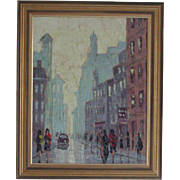 Oil painting....Paris street scene painting....