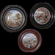 Pot lid...Three pot lids...Victorian pot lids...