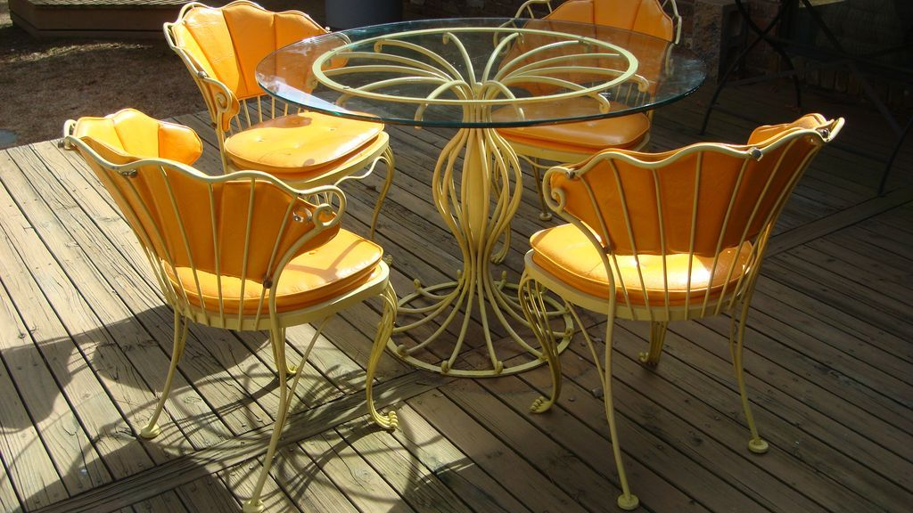 ... Vintage Woodard Patio Furniture By Vintage Woodard Iron Patio Set Ultra  Rare Design All ...