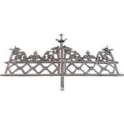SOLD Set of Two Anglo Indian Victorian Cast Iron Balcony Railing Panels with Single Post
