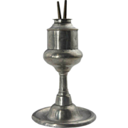 American Pewter Whale Oil Lamp