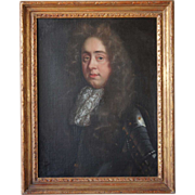SOLD English School Oil on Canvas Portrait of a Nobleman in Armor