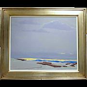 WILLIAM C. HOOK Acrylic Painting on Canvas, Yellow Horizon