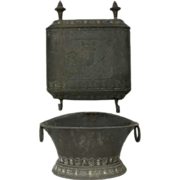 Antique French Copper Two-Piece Lavabo