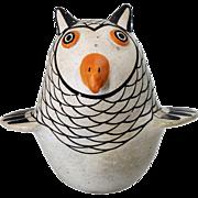 Native American SARAH GARCIA Acoma Pueblo Polychrome Pottery Owl