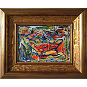 PAUL KAUVAR SMITH Oil on Canvas Painting, Abstract