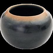 Native American GRACE & CAMILIO TAFOYA Santa Clara Blackware Two Tone  Pottery Jar