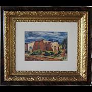 PAUL KAUVAR SMITH Watercolor Painting, Adobe House