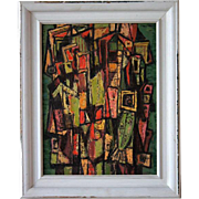 SOLD PAUL KAUVAR SMITH Oil on Board Painting, Abstract