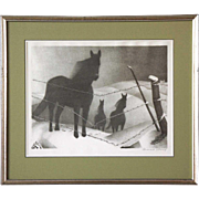 SOLD GRANT WOOD Lithograph, February
