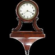 Antique Swedish Empire Mahogany Veneer Bracket Clock