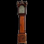 SOLD English George III Thomas De La Salle Mahogany Grandfather Clock