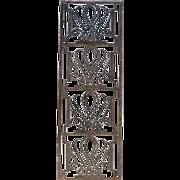 French Art Deco Edgar Brandt Style Fer Forge Panel