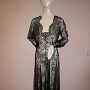 SALE PENDING Unbelievable!! Vintage 1930s Gown Chantilly Lace From Head to Toe