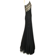 SALE PENDING Exquisite 1930s Silk & Lace Evening Gown With Matching Bolero