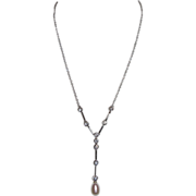 Solid Sterling Silver & 12mm Pearl - Necklace