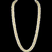 Crown Trifari Gold Tone Textured Bead Necklace