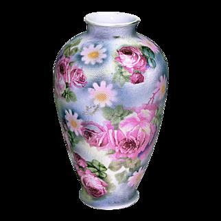 Royal Bayreuth Rose Tapestry Pattern Vase