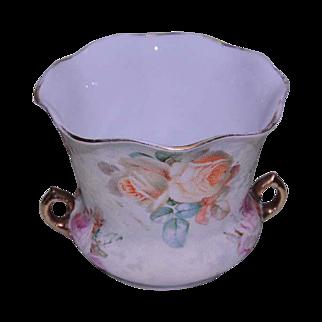 Royal Bayreuth Rose Tapestry Pattern Sugar Bowl