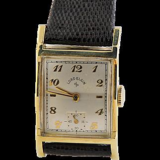 14K Yellow Gold Filled Lord Elgin Wristwatch
