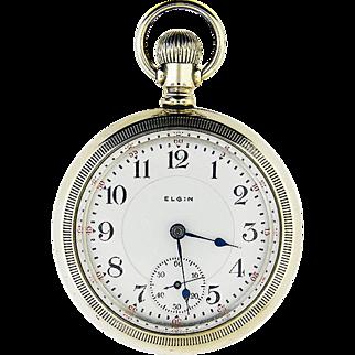Scarce 17 jewel Elgin Pocket Watch   Overland Model   Ca.1904