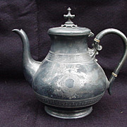 James Dixon & Sons, Sheffield, Electroplated Britannia Metal Teapot