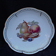 Schumann Bavaria Fruit Plate with Reticulated Border