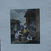 W. Hamilton Hand-Colored Engraving, Pub'd by Boydell, Month of March