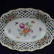 SALE Schumann Bavaria, U.S. Zone, Germany, Porcelain Bowl, Dresden Flowers