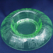 Elegant Glass Console Bowl with Rolled Rim, Stunning Etched Design