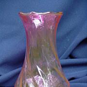 Cranberry Blown Glass Vase