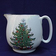 Cuthbertson Christmas Tree Pitcher, England