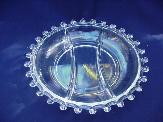 Heisey Lariat Divided Relish Dish