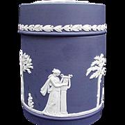 Wedgwood Jasperware Jar, Dark Blue, Made in England