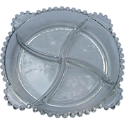 Clear Crystal Imperial Candlewick Divided Relish Dish
