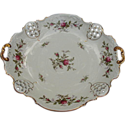 SALE Rosenthal Cake Plate, Reticulated Border, Roses