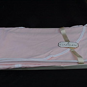 SALE Carlin Boutique Twin Coverlets in Pink, Edged in White, West Point Pepperel