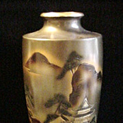 SALE Vintage Japanese Vase in Mixed Metal, Signed