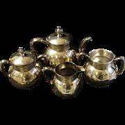 Pairpoint Quadruple Silverplated Tea Set, New Bedford, Mass.