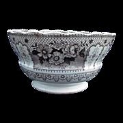 Brown Transferware  Staffordshire Bowl
