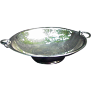 Silverplated Bowl with Stylized Floral Handles, Denmark