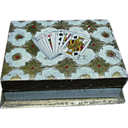 Florentine Card Box with Playing Card Images on Lid