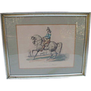 Handsome Hand-Colored Print of French Cavalryman by Carle Vernet