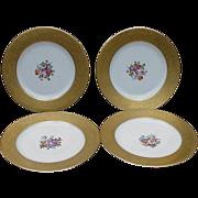 SALE Four Hutschenreuther Porcelain Dinner Plates, Germany