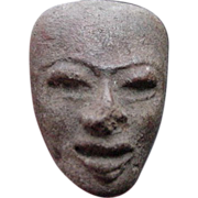 SALE Carved Stone Face