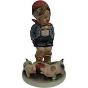 Charming Hummel Figurine, Pigs, Marked Germany