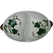 Poppytrail Metlox Ivy Divided Oval Vegetable Dish