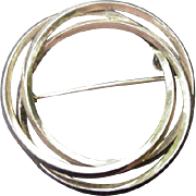 12 kt. Gold-Filled Circle Pin, Three Circles Entwined