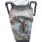Hand-Painted Nippon Scenic Vase, Japan