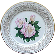 "Gorham ""Rose of the Year"" Plate, Pristine, 1978 by Frank Bly"